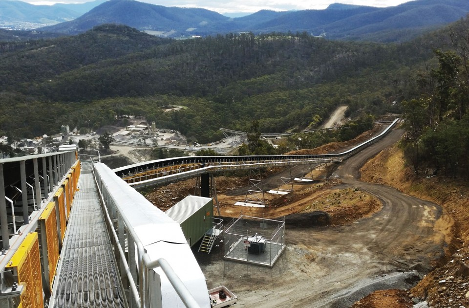 Hanson Flaghill Gully (Hobart) Quarry uses regenerative breaking to lower energy use and fossil fuel emissions
